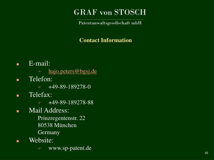 GRAF von STOSCH