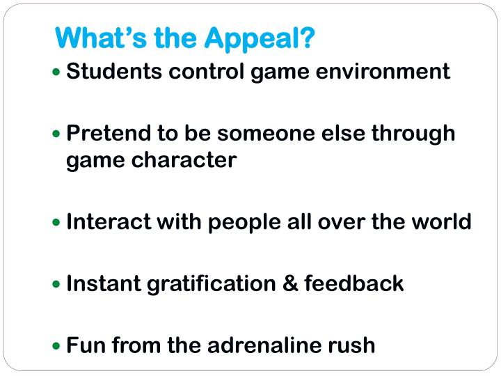 What's the Appeal?