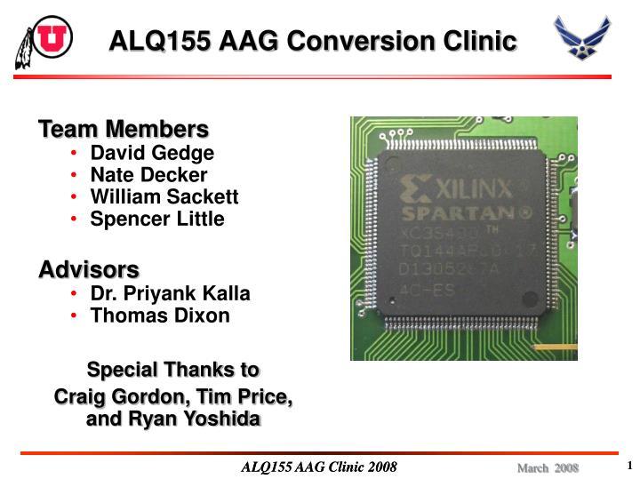 alq155 aag conversion clinic n.