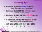 interesting digits