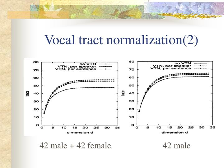 Vocal tract normalization(2)