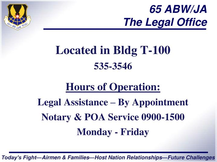 65 abw ja the legal office n.