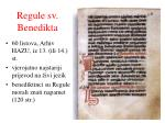 regule sv benedikta