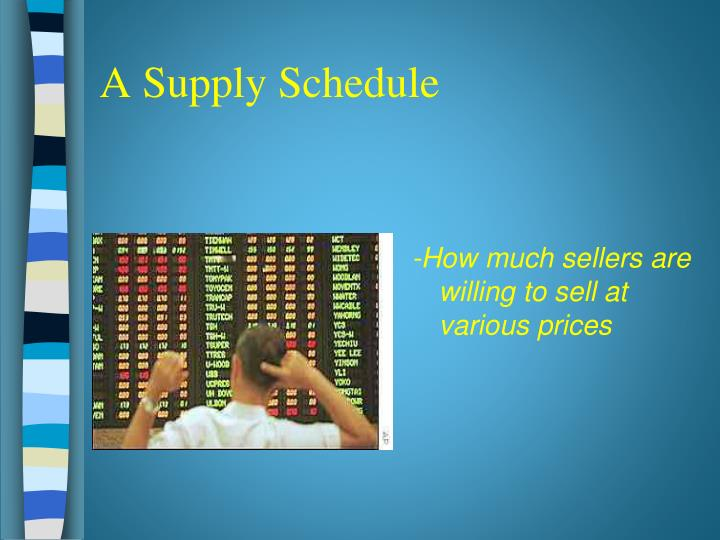 A Supply Schedule