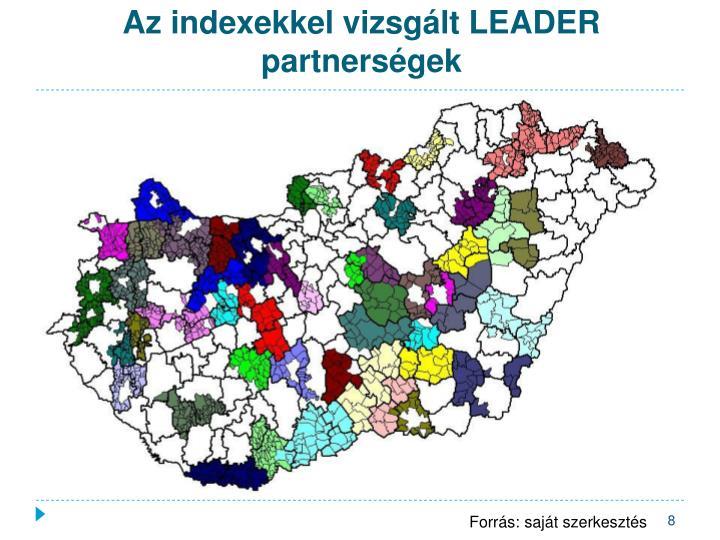 Az indexekkel vizsgált LEADER partnerségek
