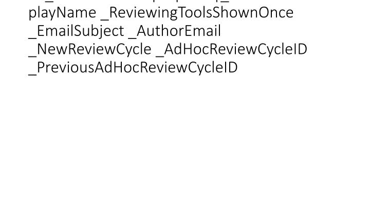 vti_cachedcustomprops:VX|_AuthorEmailDisplayName _ReviewingToolsShownOnce _EmailSubject _AuthorEmail _NewReviewCycle _AdHocReviewCycleID _PreviousAdHocReviewCycleID