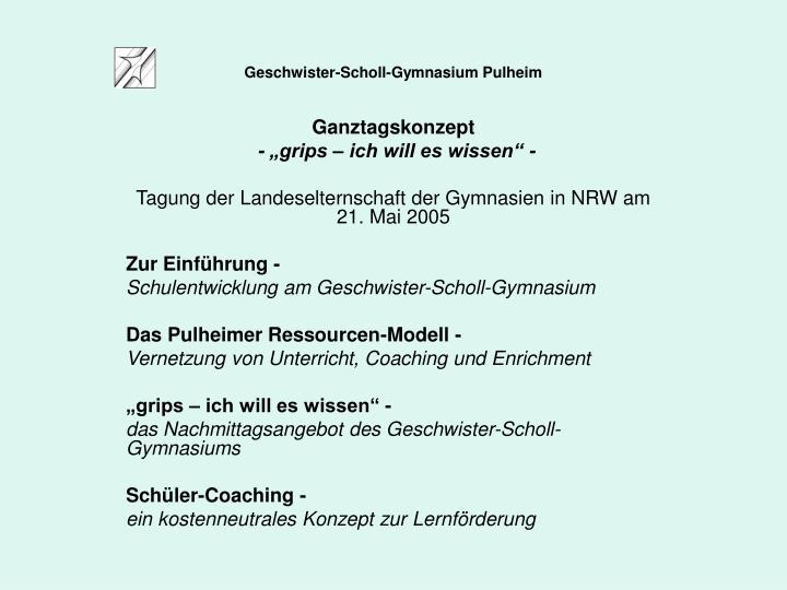 Geschwister scholl gymnasium pulheim