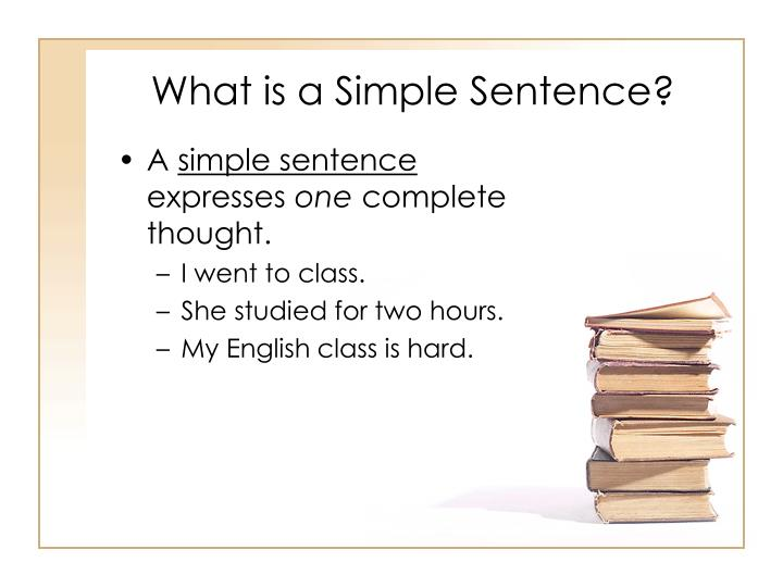 What is a simple sentence