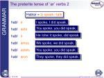 the preterite tense of ar verbs 2
