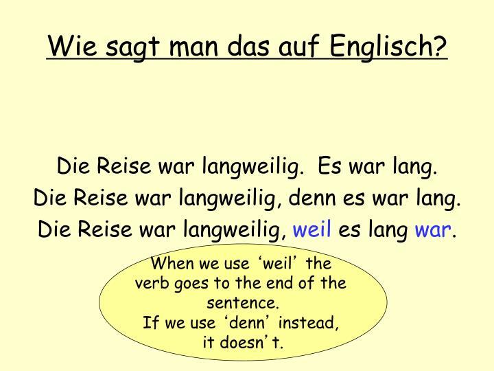 Wie sagt man das auf Englisch?