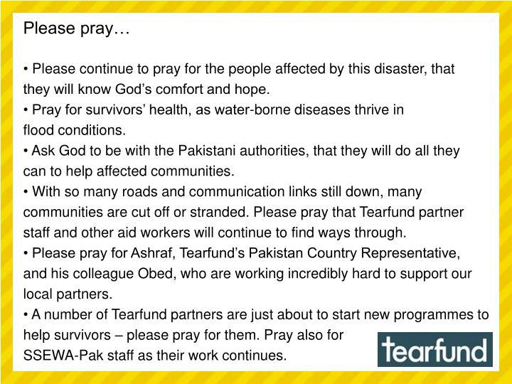 Please pray…