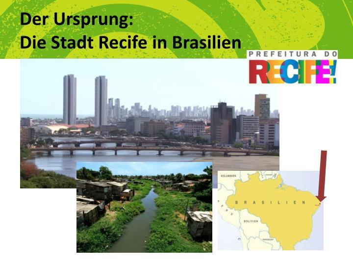 Der ursprung die stadt recife in brasilien