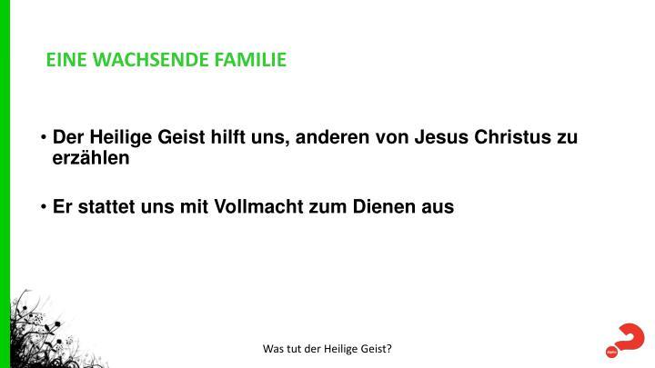EINE WACHSENDE FAMILIE