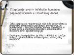 cijepljenje protiv infekcije humanim papilomavirusom u hrvatskoj danas1
