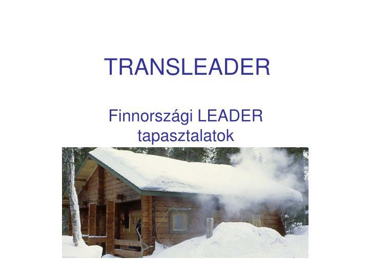 transleader n.