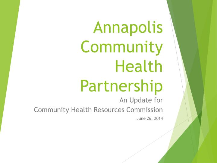 Annapolis community health partnership