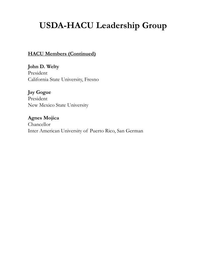 USDA-HACU Leadership Group