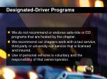 designated driver programs