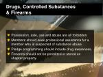 drugs controlled substances firearms
