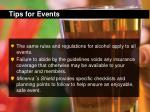 tips for events