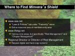 where to find minvera s shield