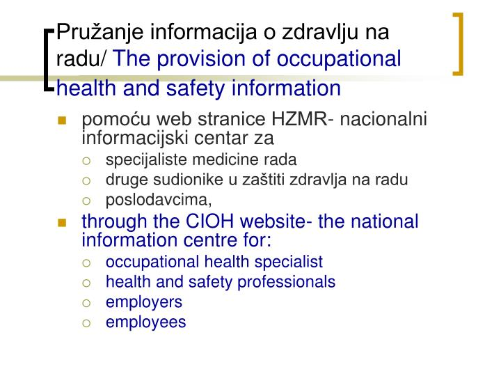 Dissertation proposal occupational safety health