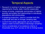 temporal aspects