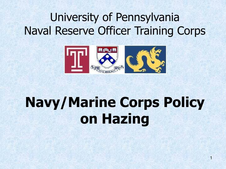Ppt university of pennsylvania naval reserve officer training.