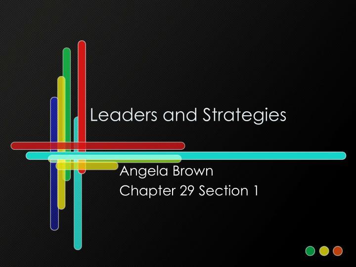 leaders and strategies n.