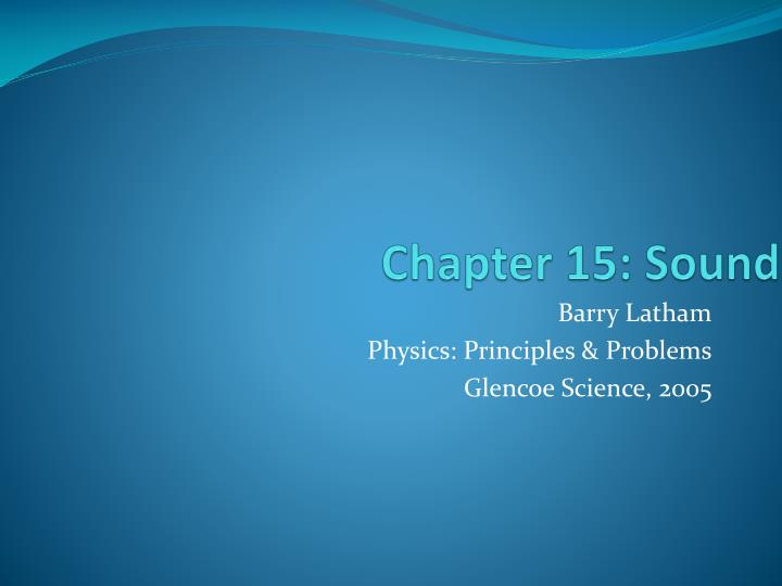 PPT Chapter 15 Sound PowerPoint Presentation ID 3565438