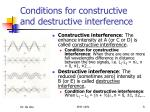 conditions for constructive and destructive interference