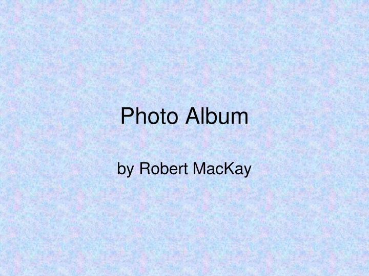 photo album n.