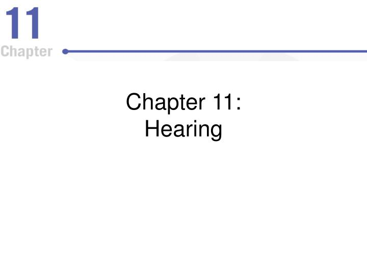 Chapter 11 hearing