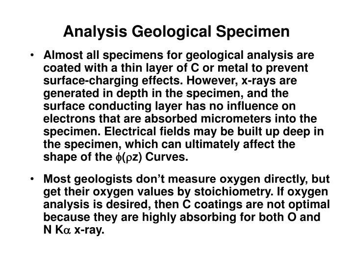 Analysis Geological Specimen