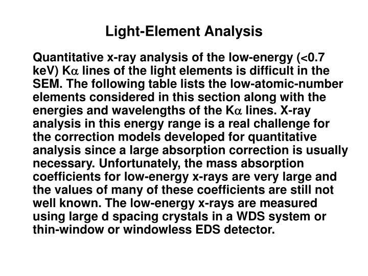 Light-Element Analysis
