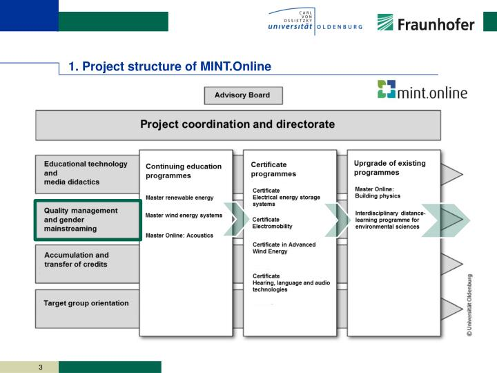 1 p roject structure of mint online