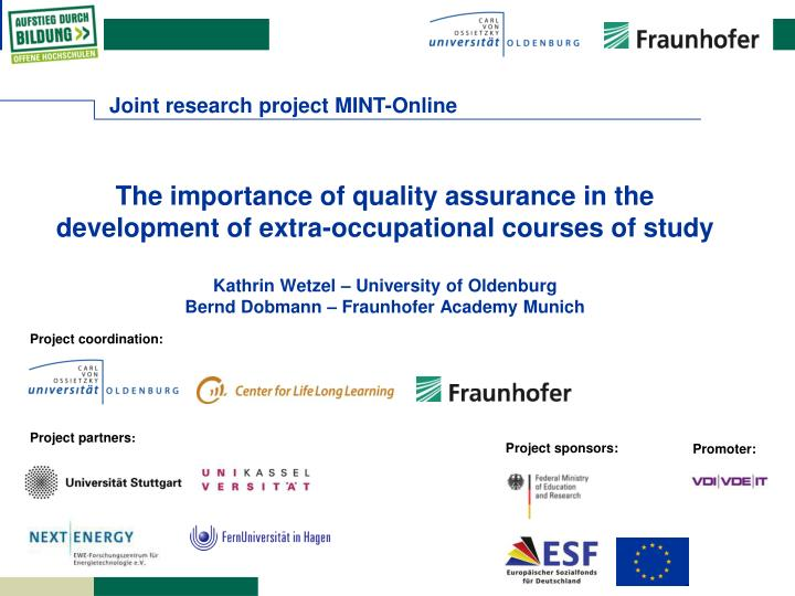 Joint research project MINT-Online