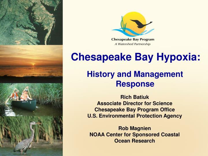 Chesapeake Bay Hypoxia: