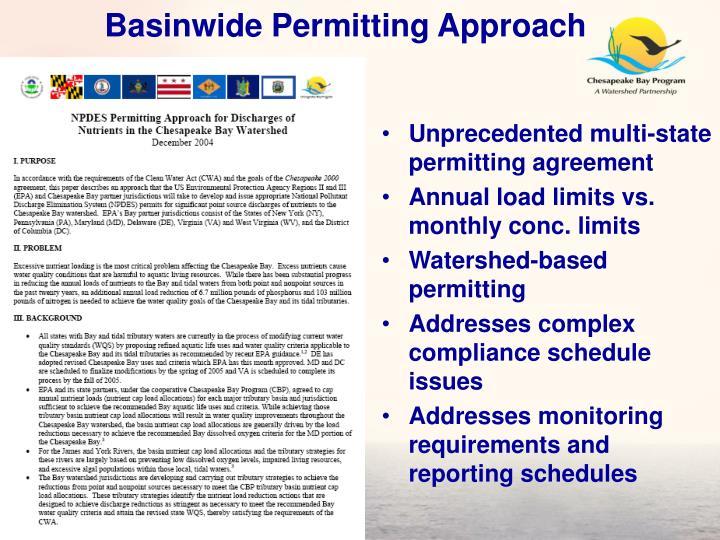 Basinwide Permitting Approach