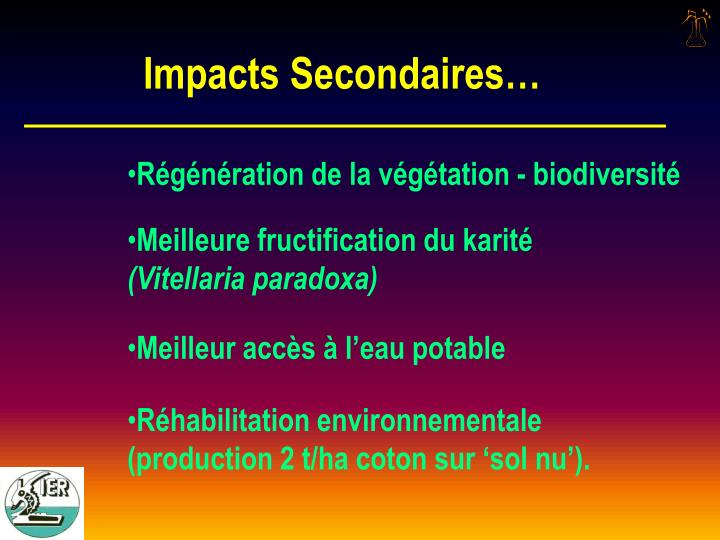 Impacts Secondaires…