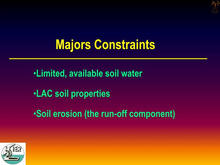Majors Constraints