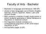 faculty of arts bachelor