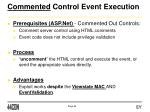 commented control event execution