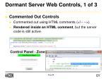 dormant server web controls 1 of 3