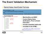 the event validation mechanism