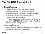 the ria scip project cont