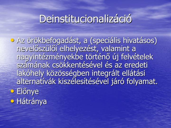 Deinstitucionalizáció
