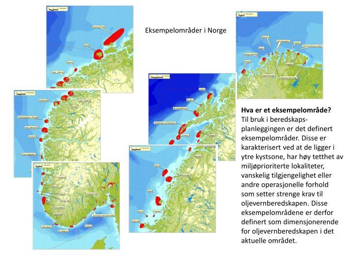 Eksempelområder i Norge