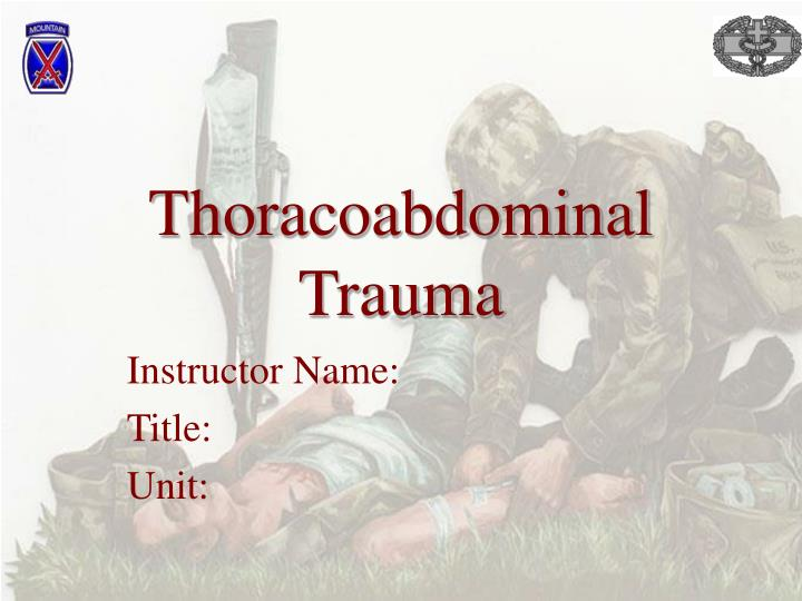 thoracoabdominal trauma n.