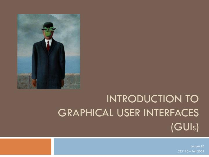 introduction to graphical user interfaces gui s n.
